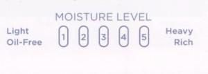 moisture level scale