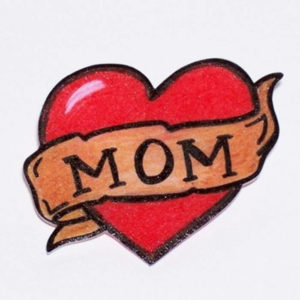 Love-Heart-Mom-Banner-Tattoo-Sketch